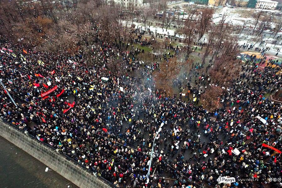 ВиднаБолотную площадь свертолета. © Ridus.ru