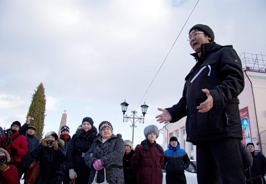 Участники акции протеста против фальсификации выборов вУлан-Удэ. © Марк Агнор/РИА Новости
