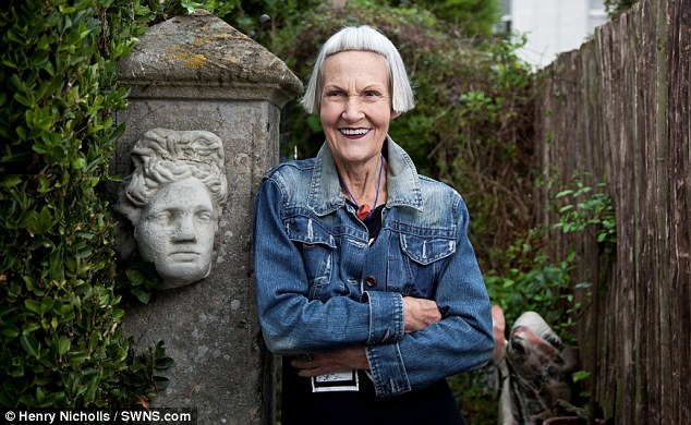 Cool: Jean says that teenagers love her look, although other pensioners can be scared to try trendy clothes