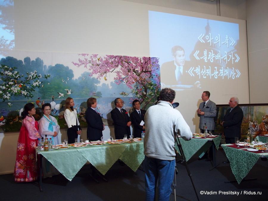Выставка современного искусства Северной Кореи «Северная Корея: Влучах весеннего солнца» Москва. © Vadim Preslitsky
