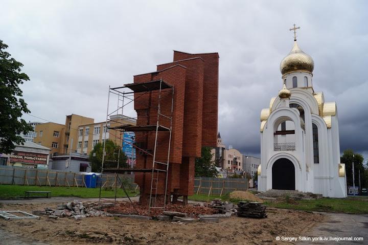 """Монумент """"40-ю Победы вВОВ"""" вИваново готовится ксносу."""
