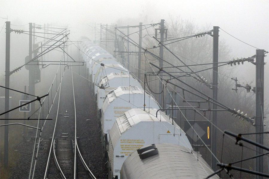 Поезд срадиоактивными отходами. © Vincent Kessler/Reuters