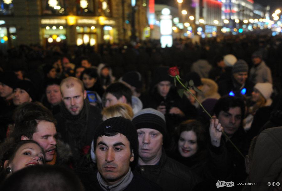 Центр Москвы вновогоднюю ночь. © Василий Максимов/Ridus.ru