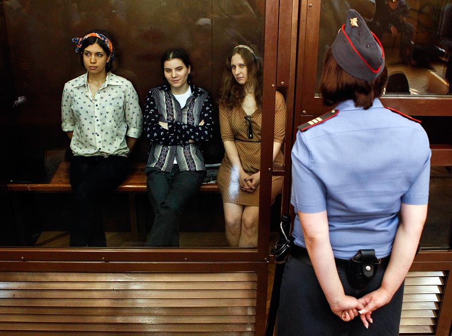 Pussy Riot на скамье подсудимых