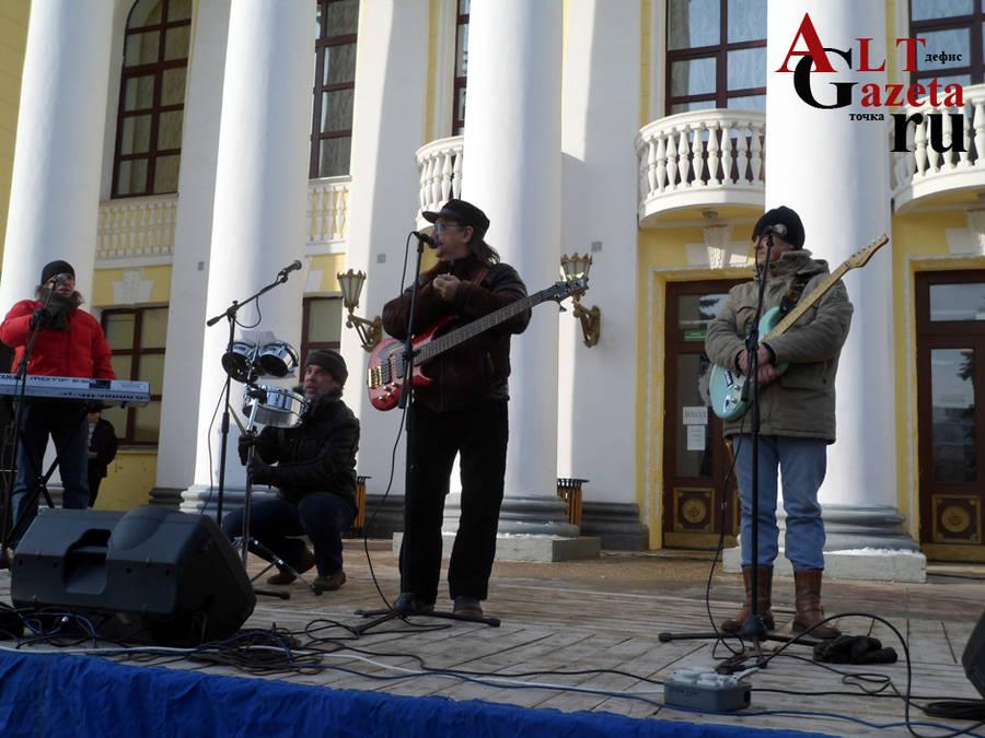 Группа «Ариель» (заслуженные артисты РСФСР) развлекает народ