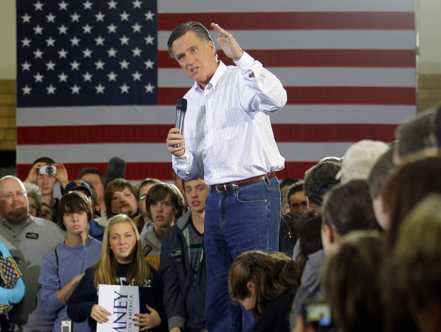 Кандидат впрезиденты США Мит Ромни навстрече сизбирателями. © Brian Snyder/Reuters