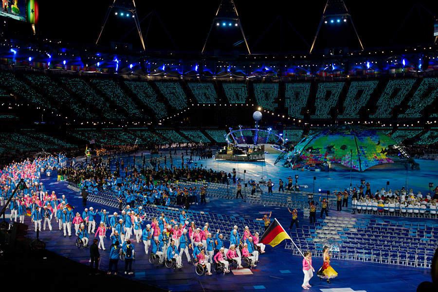 Открытие паралимпийских игр в лондоне