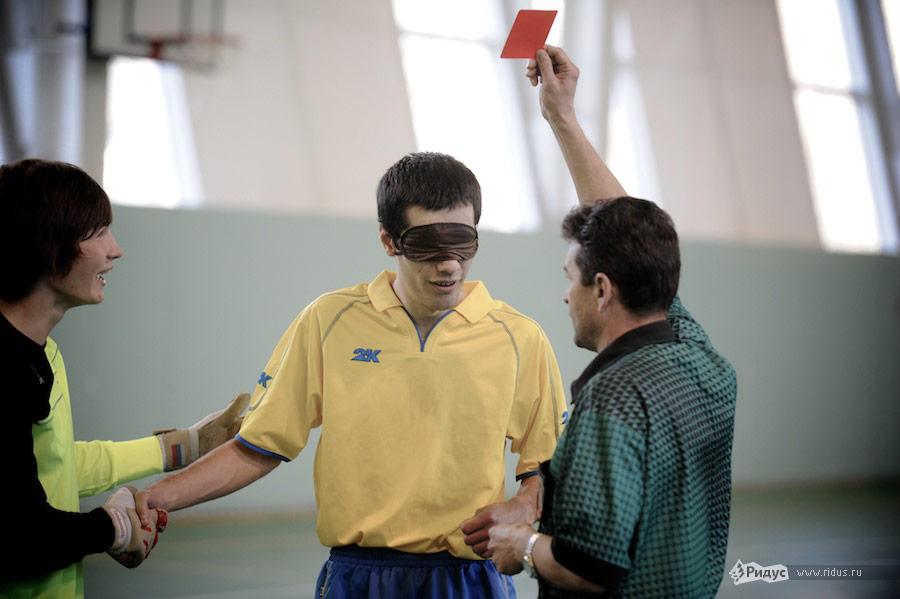турнир по футболу слепых в Москве