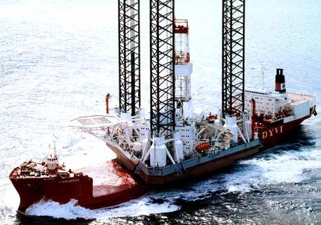 Самоподъёмная буровая установка «Кольская». © ОАО Арктикморнефтегазразведка