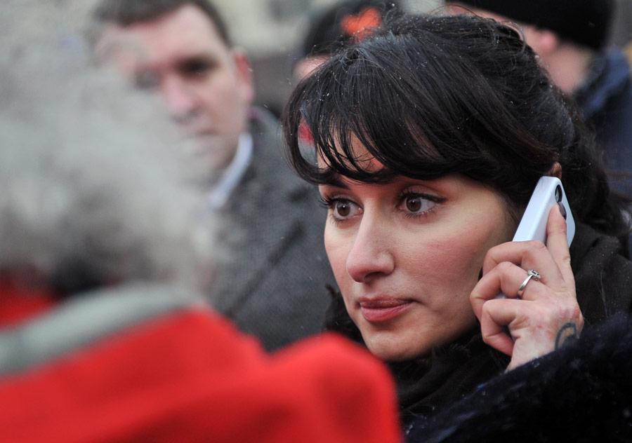 Телеведущая Тина Канделаки наакции протеста наПлощади Революции. © Рамиль Ситдиков/РИА Новости