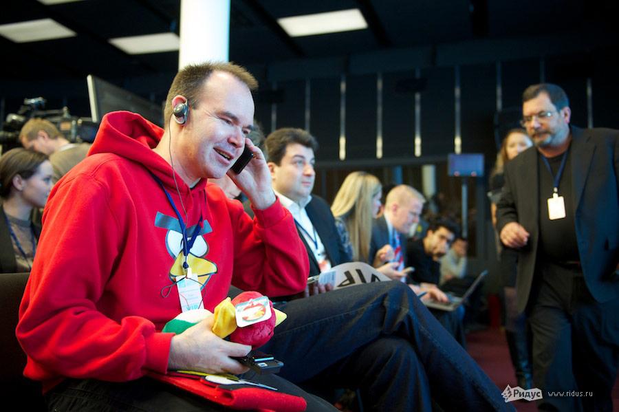 Автор игры Angry Birds Петер Вестербакана наВсероссийском молодежном инновационном конвенте. © Антон Белицкий/Ridus.ru
