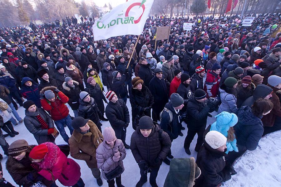 Акция протеста «Зачестные выборы» вЧелябинске. © Михаил Мандрыгин