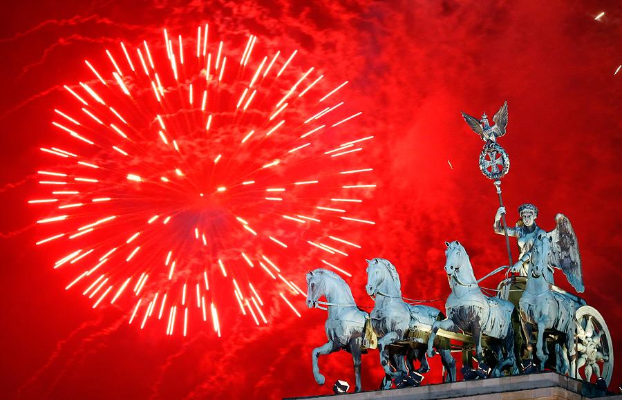 Фейерверк вБерлине. © Michael Sohn/AP Photo