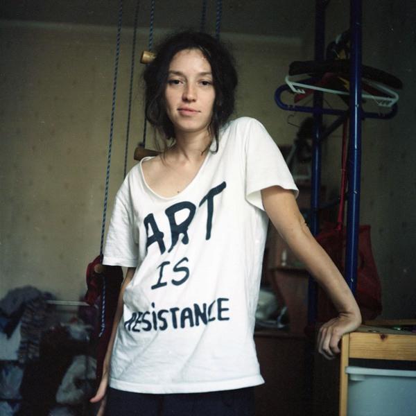 Наталья Сокол, активистка арт-группы «Война». © plucer.livejournal.com