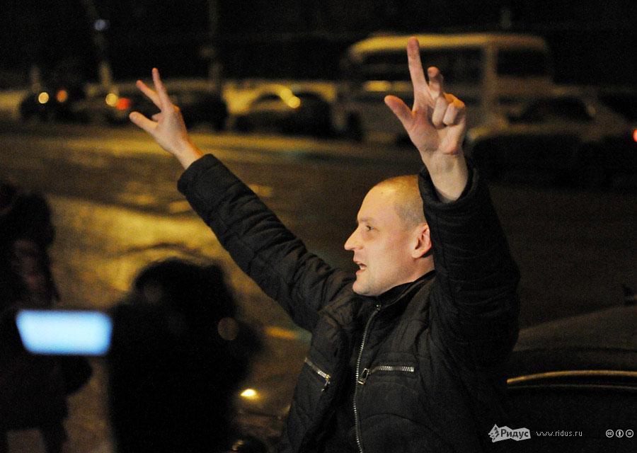 Выступление Сергея Удальцова перед спецприемником. © Антон Тушин/Ридус