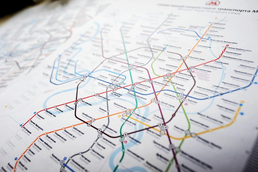 Схема линий Московского