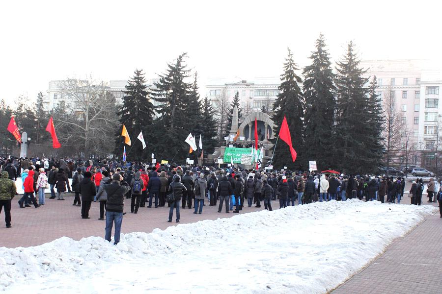 Митинг «Зачестные выборы!» вЧелябинске 24декабря 2011 года. © Димэйс Щенников