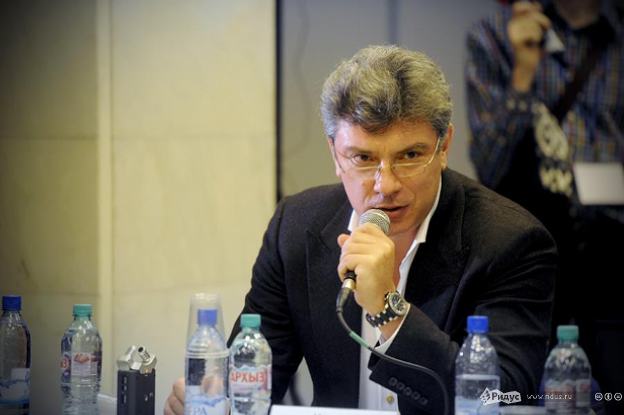 Борис Немцов назаседании Координационного совета оппозиции. © Антон Белицкий/Ridus.ru