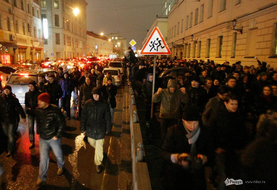 Митинг «Солидарности» 5декабря 2011 года вМоскве. © Антон Тушин/Ridus.ru