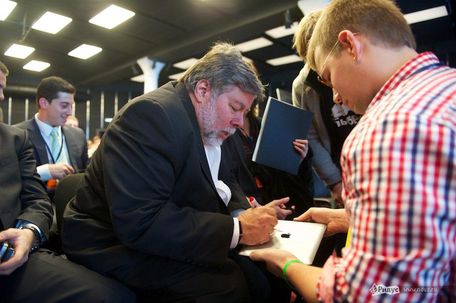 Стив Возняк наВсероссийском молодежном инновационном конвенте. © Антон Белицкий/Ridus.ru