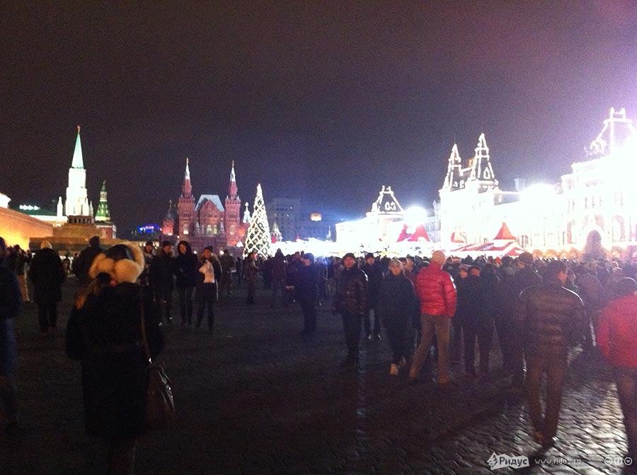 Встреча Нового года наКрасной площади. iPhoned byАлексей Свирин/Ridus.ru