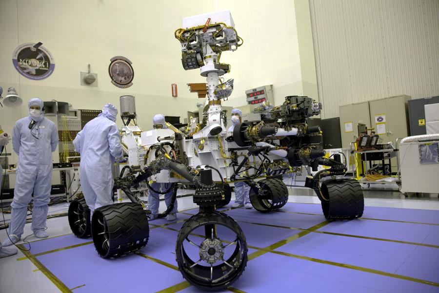 Марсоход Curiosity, который отправят искать жизнь наМарсе. © NASA/nasa.gov