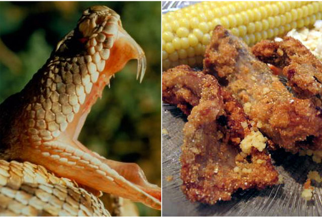 Fried snake-10 meals that will bite you back