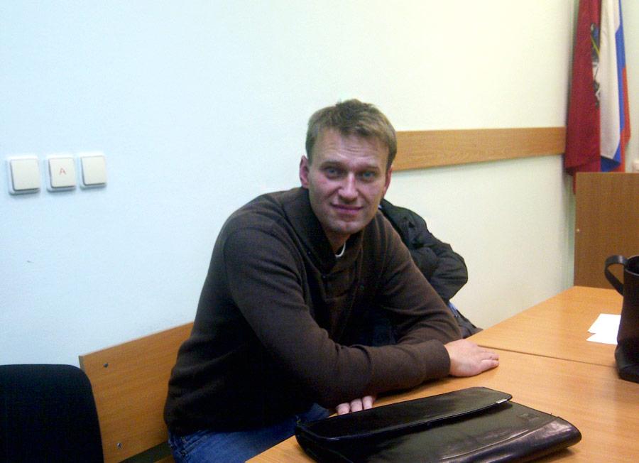 Алексей Навальный вовремя дачи показаний вТверском суде. © Alexei Anishchuk/Reuters