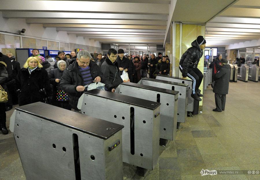 Безбилетник вмосковском метро. © Антон Тушин/Ridus.ru