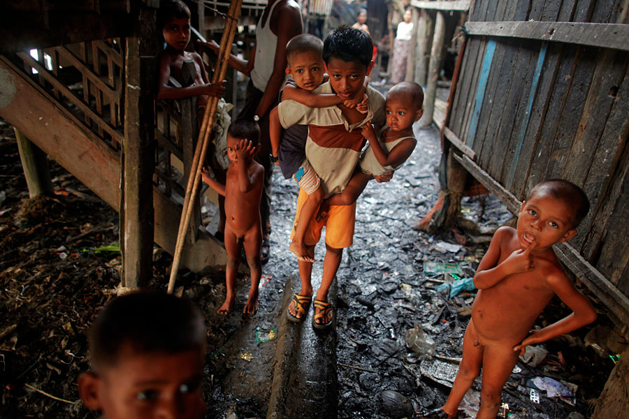 state of slum children