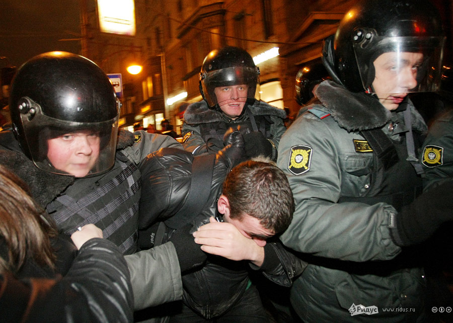 Акция протеста наТриумфальной площади вМоскве 7декабря 2011 года. © Антон Тушин/Ridus.ru