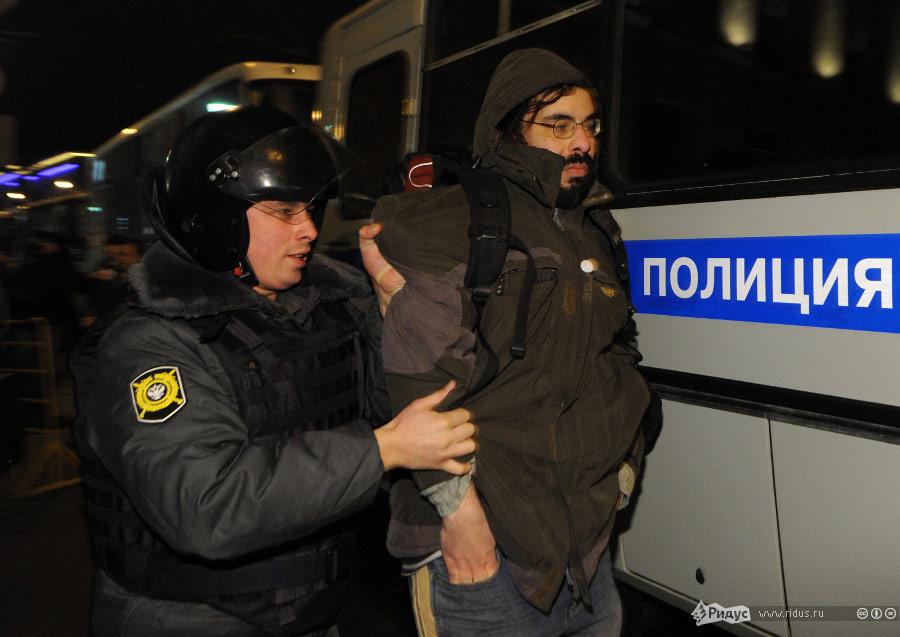 Разгон митинга 31декабря наТриумфальной. © Василий Максимов/Ridus.ru