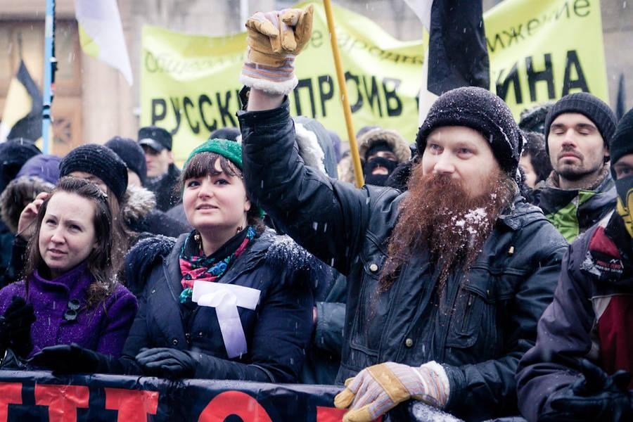 Митинг напл. Сахарова вСанкт-Петербурге