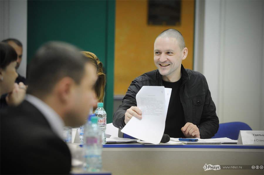 Сергей Удальцов назаседании Координационного совета оппозиции. © Антон Белицкий/Ridus.ru