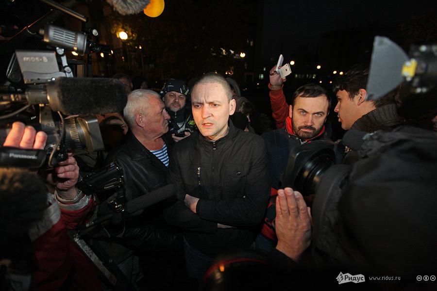 Илья Пономарев иСергей Удальцов уздания СКРФ. © Артем Сизов/Ridus.ru