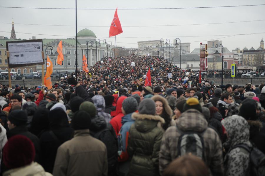 Количество митингующих наБолотной площади 10декабря 2011 года. © Антон Белицкий/Ridus.ru