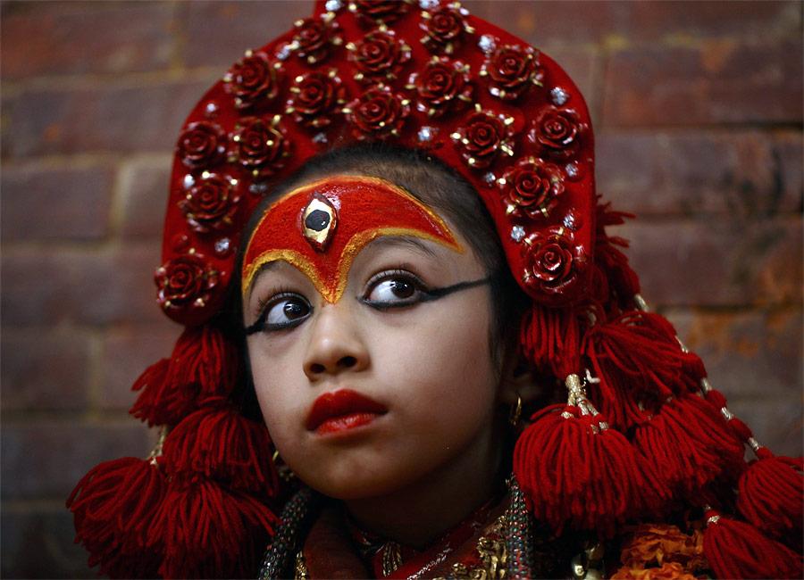 «Живая богиня» Кумари. © Navesh Chitrakar/Reuters