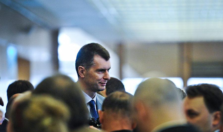 Предприниматель Михаил Прохоров (вцентре). © Максим Шеметов/ИТАР-ТАСС