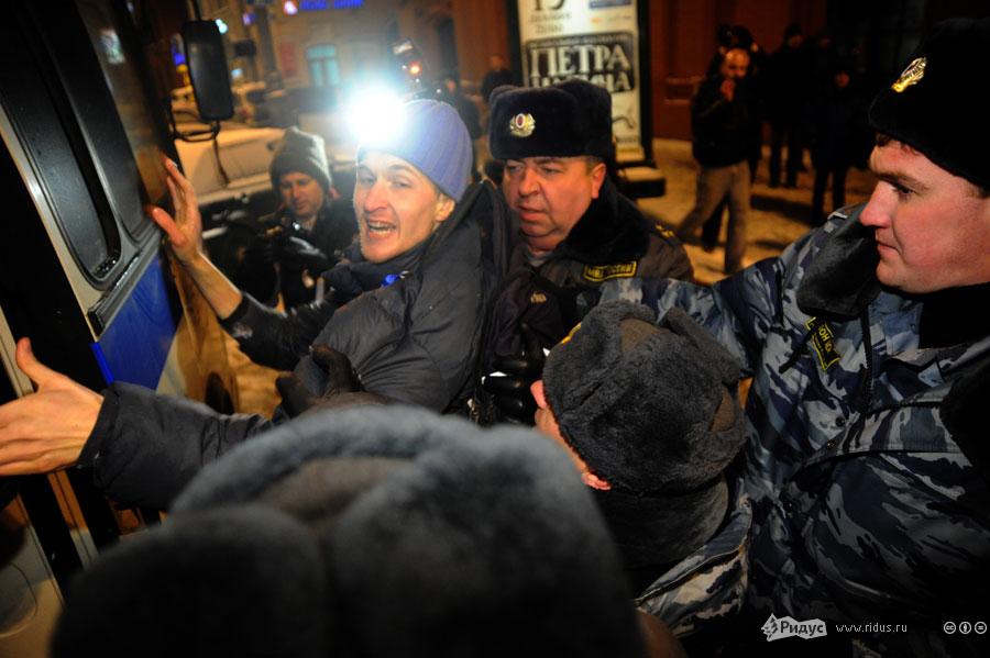 Трое участников стихийного митинга были задержаны. © Василий Максимов/Ridus.ru