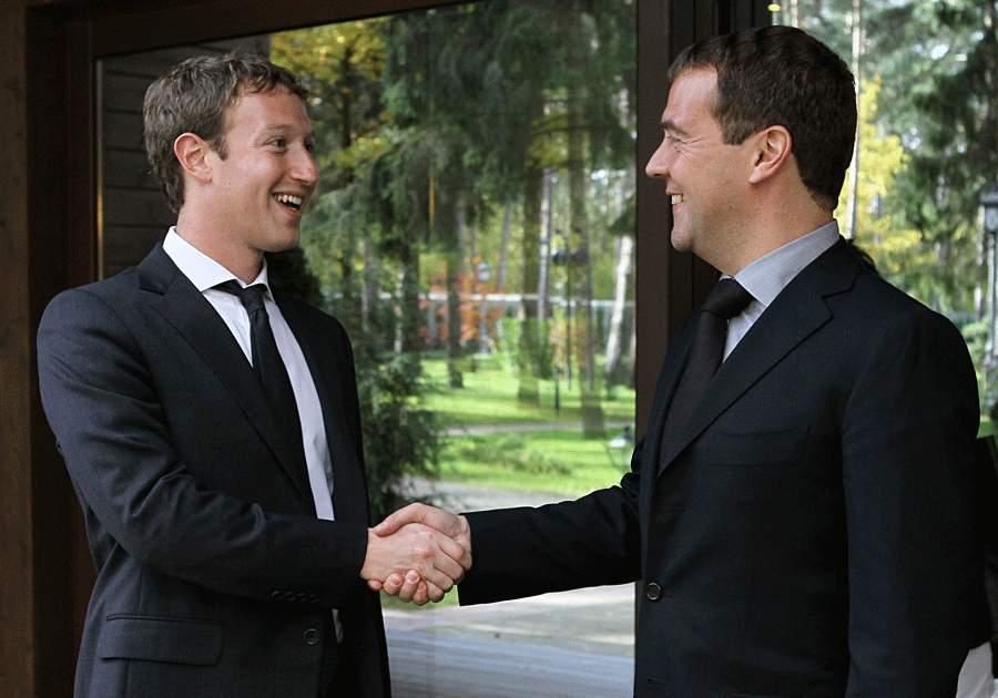 Медведев и Цукерберг