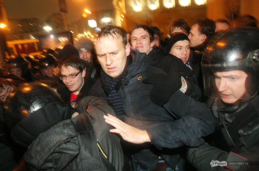 Задержание Алексея Навального. © Антон Тушин/Ridus.ru