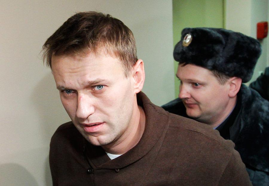 Алексей Навальный взале Тверского суда 6декабря 2011 года. © Anton Golubev/Reuters