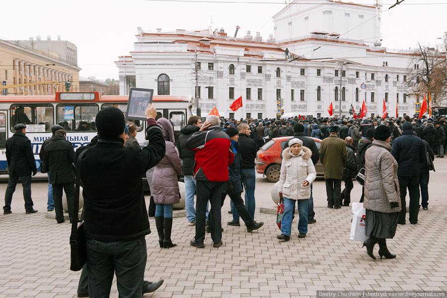 Митингующие вВоронеже 10декабря 2011 года. © Дмитрий Чушкин/Ridus.ru