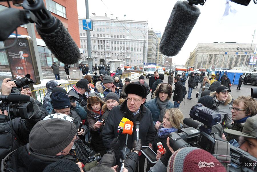 Алексей Кудрин намитинге «Зачестные выборы» 24декабря 2011 года. © Антон Тушин/Ridus.ru
