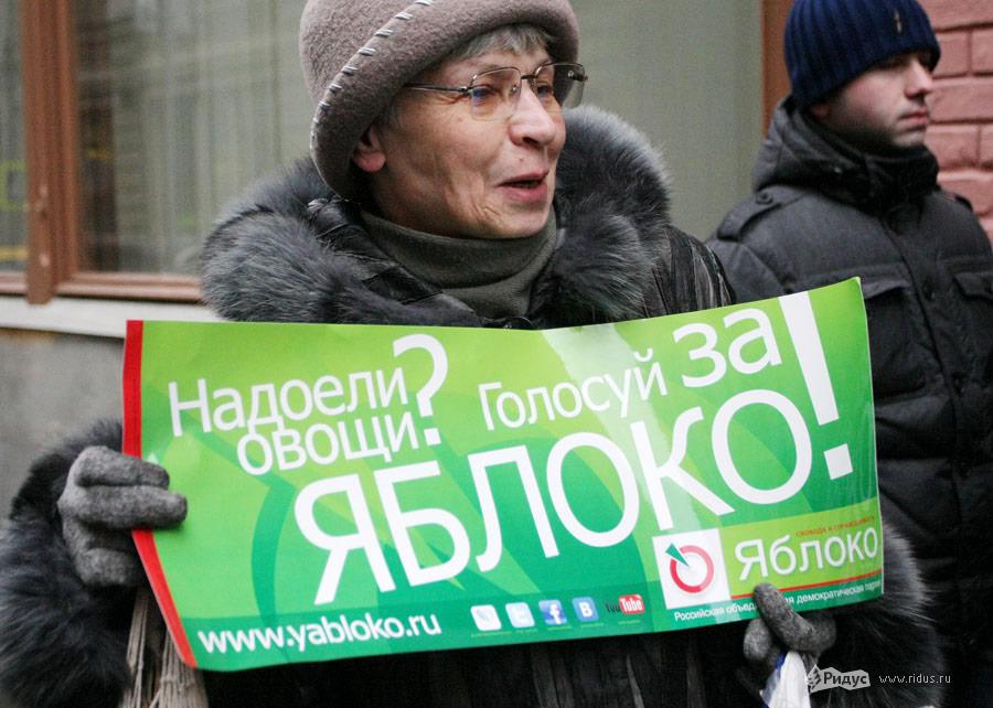 Активистка партии «Яблоко»© Антон Тушин/Ridus.ru