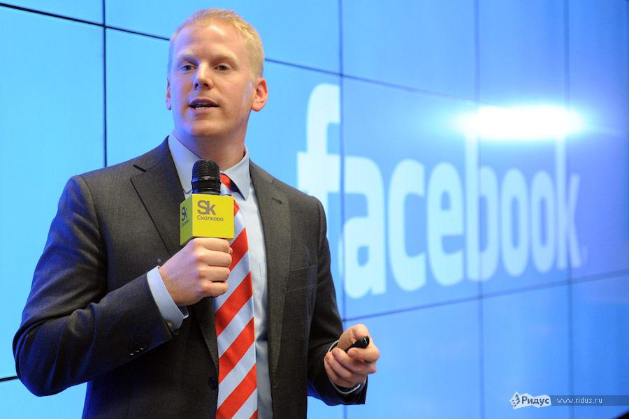 Сотрудник Facebook Кевин Коллерэн наВсероссийском молодежном инновационном конвенте. © Антон Белицкий/Ridus.ru