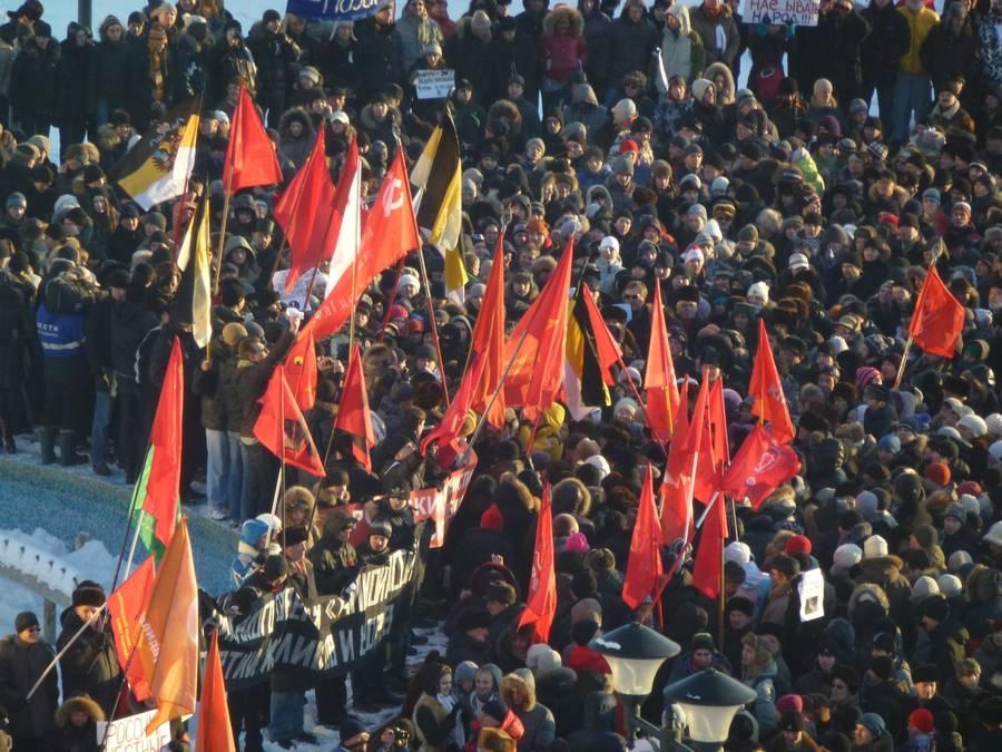 Акция протеста «Зачестные выборы» вНовосибирске. ©  vkontakte.ru/newsnsk