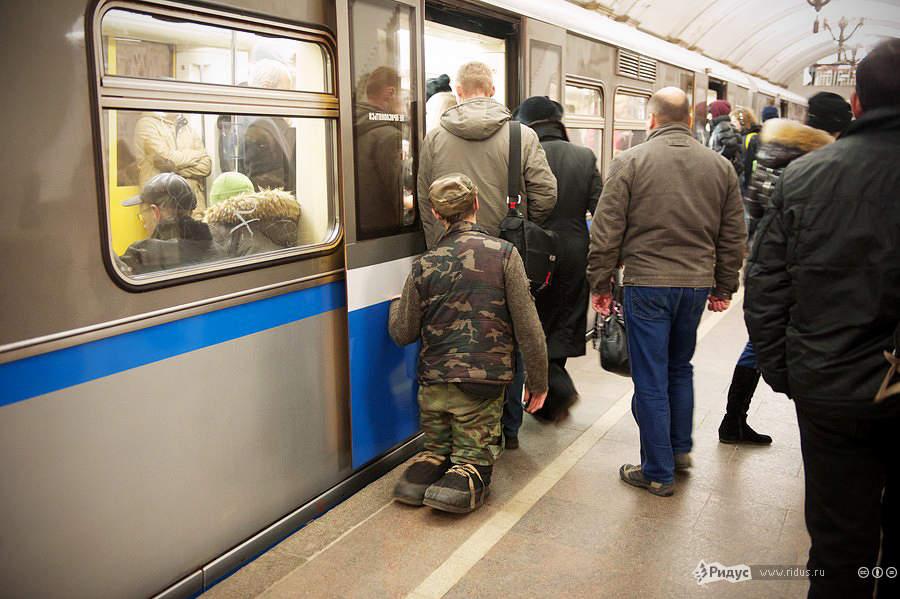 «Ветеран войны» накольцевой ветке Московского метрополитена. © Антон Белицкий/Ridus.ru