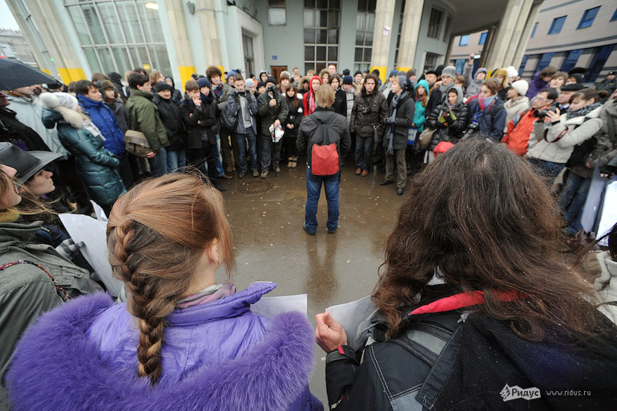 Акция протеста студентов МГУ. © Антон Белицкий/Ridus.ru