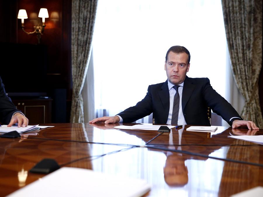 Председатель правительства России, лидер партии Дмитрий Медведев. © Дмитрий Астахов/РИА Новости